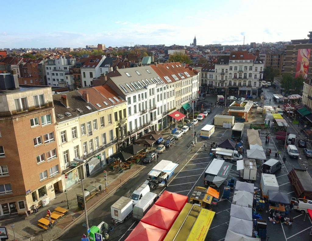 two days in Brussels market place Jourdan