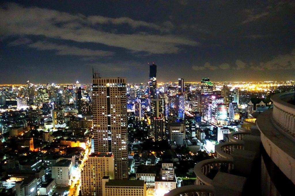 Lebua Sky Bar night panorama