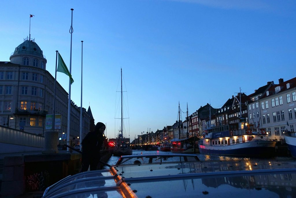 Christmas time in Copenhagen boat trip from Nyhavn