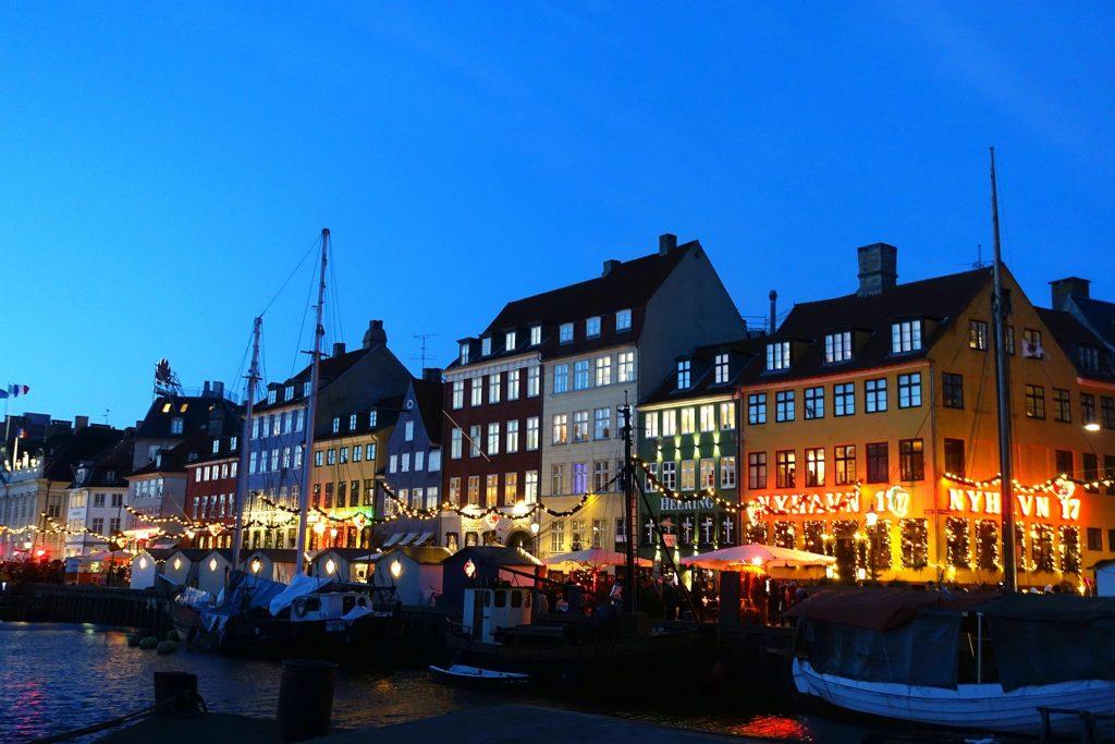 Christmas time in Copenhagen Christmas market Nyhavn